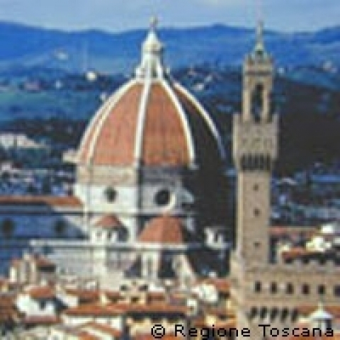Overview of Florence landmarks Italy