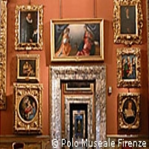 A room at the Uffizi Gallery in Florence Italy