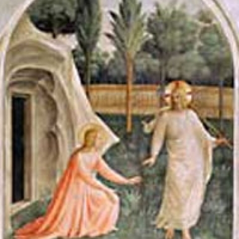 Fresco by Beato Angelico in San Marco Museum Florence Italy