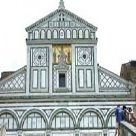 Church of San Miniato al Monte near Florence Italy