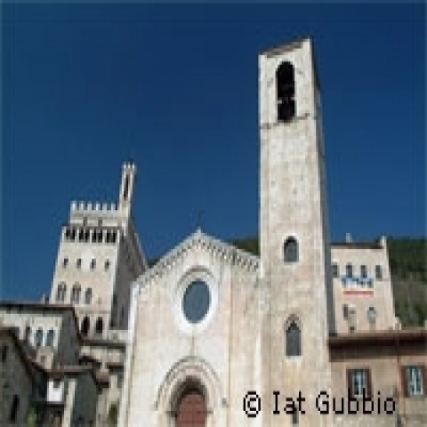A view of Gubbio Umbria Italy