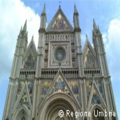 Facade of Orvieto Cathedral Umbria Italy