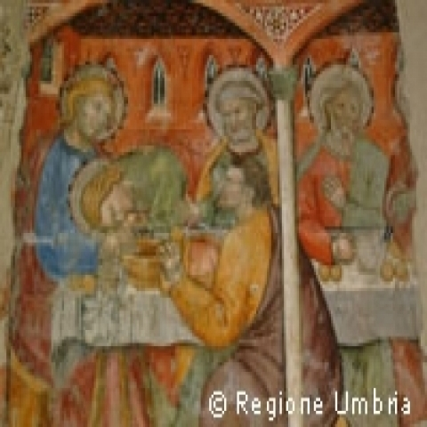 A fresco from Orvieto Umbria Italy