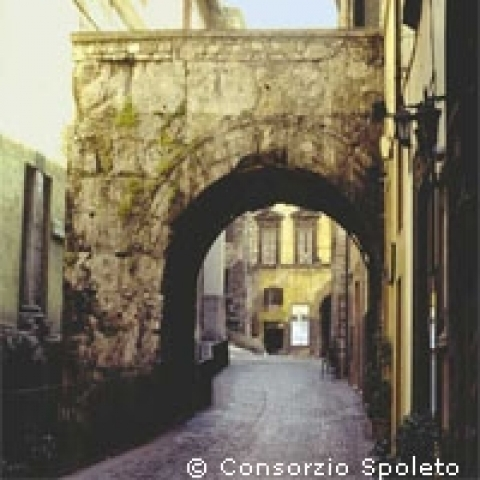 Arc of Druso in Spoleto Italy
