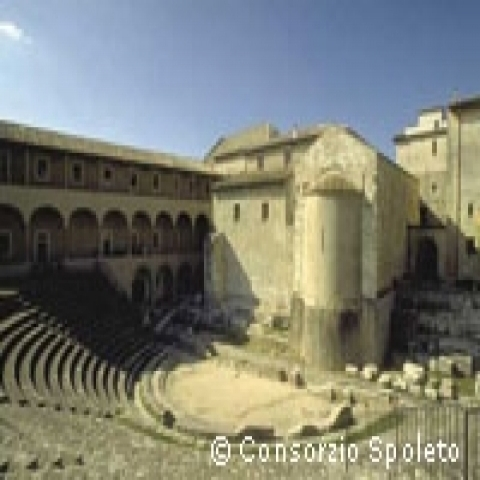 The Roman Theater in Spoleto Umbria Italy