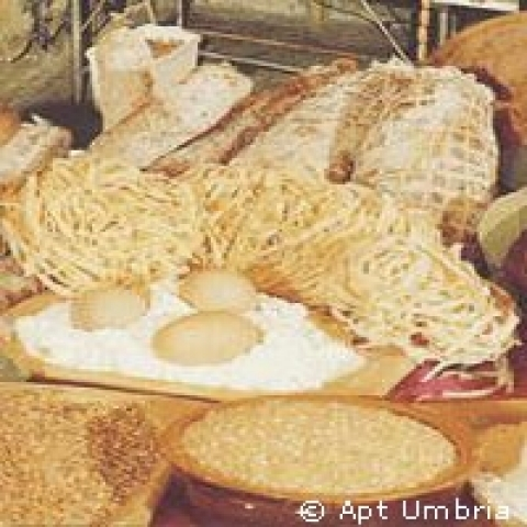 Typical food from Assisi Italy