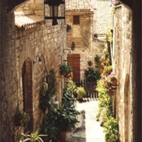 A typical alley in Assisi Italy