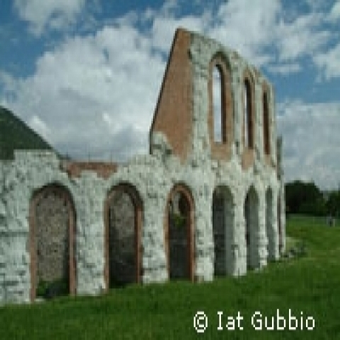 Roman theater in Gubbio Italy