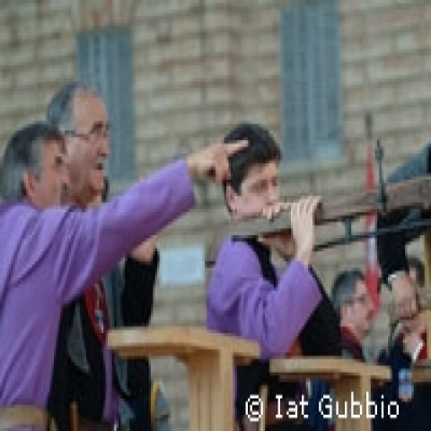 The crossbow palio in Gubbio Italy