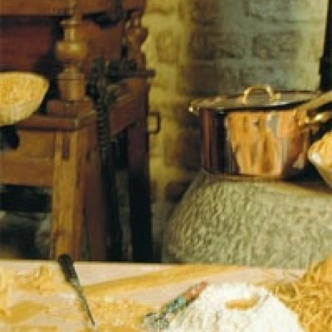 Hand made pasta in Gubbio Italy