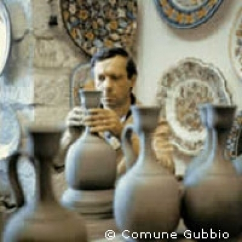 Hand made pottery in Gubbio Italy