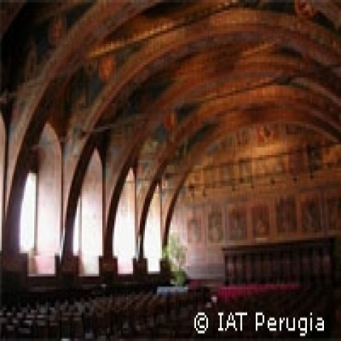 Old Notari hall in Perugia Italy