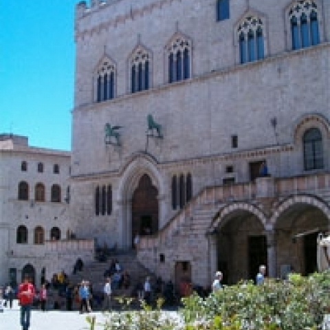 The Priori palace in Perugia Italy