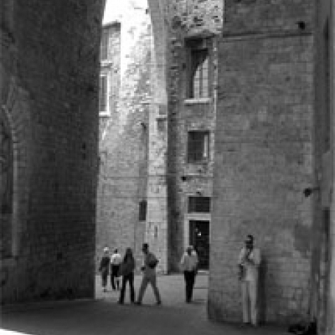 Medieval arches in Perugia Italy