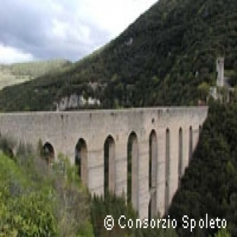 The Towers Bridge in Spoleto Italy