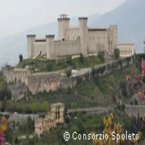 The Albornoz Fortress in Spoleto Italy