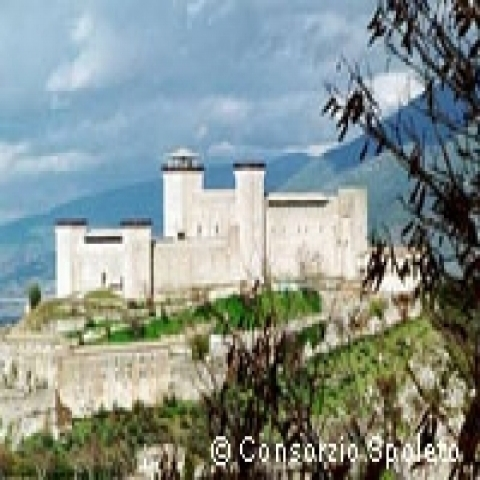 A view of the Fortress in Spoleto Italy