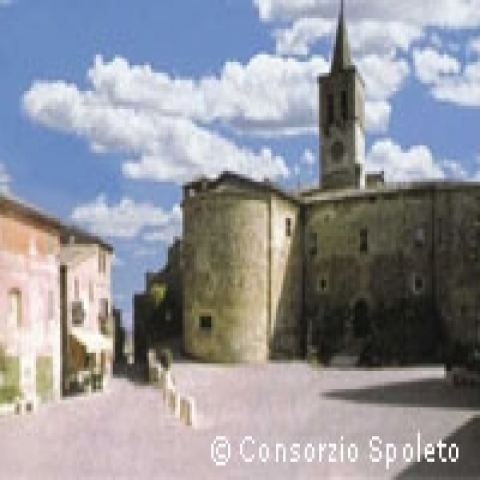 A square in Spoleto Italy