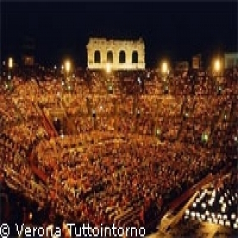Concert in the Arena Verona Veneto Italy