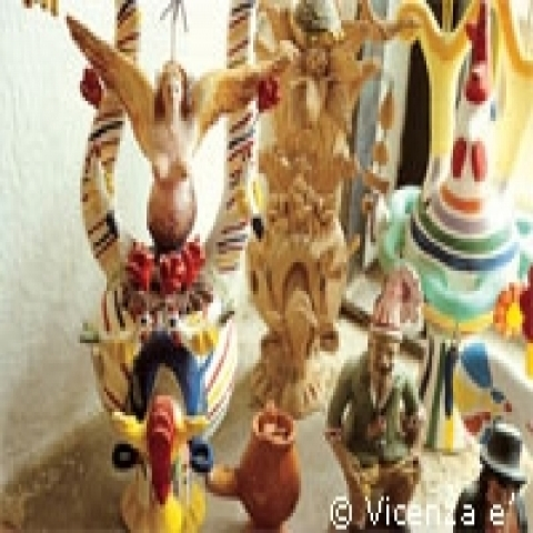 Woodden handicrafts from Veneto Italy