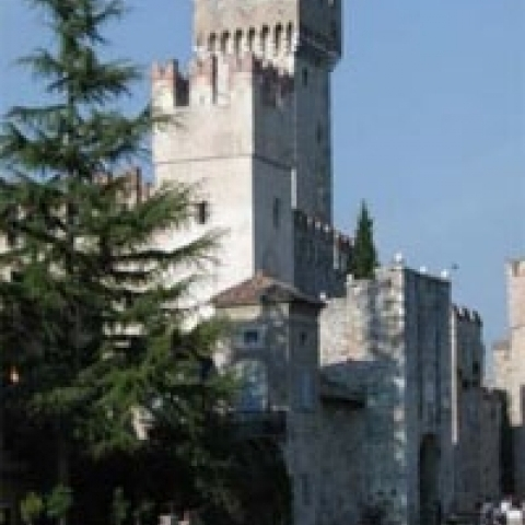 The Castle in Sirmione Lake Garda Italy