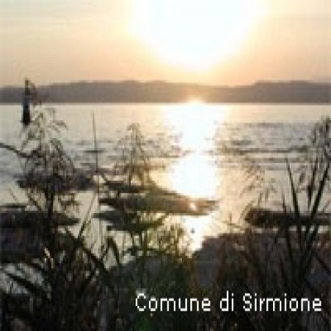 Sunset on Sirmione Lake Garda Italy
