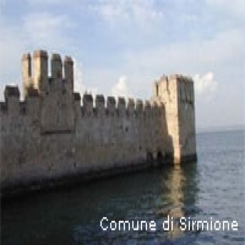 Sirmione Castle in Lake Garda Italy