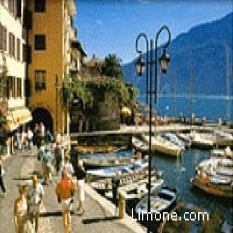 The Promenade in Limone Sul Garda Lake Garda Italy