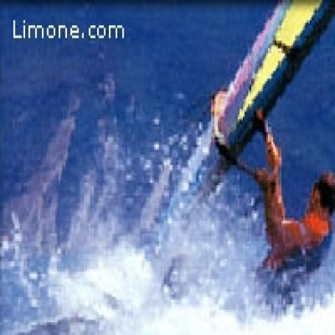 Windsurfing in Torbole Lake Garda Italy