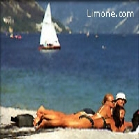 Relaxing on Lake Garda beaches Italy
