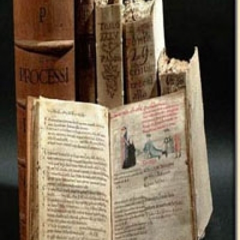 Ancient books from Padua library Italy