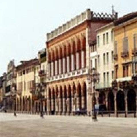 Historic center of Padua Italy