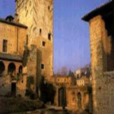The city tower in Asolo near Treviso Italy