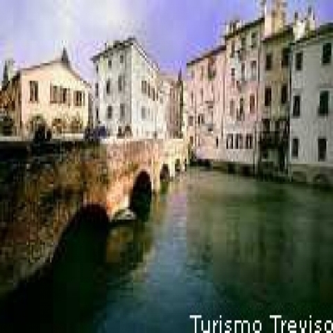 A canal in Treviso Italy