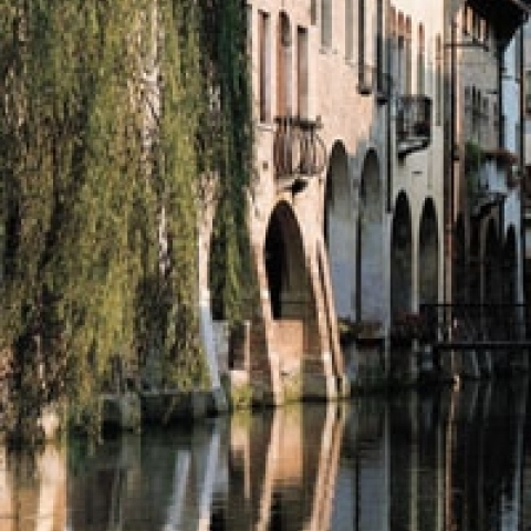 A typical canal in Treviso Italy