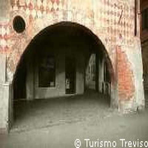 An architectural detail in Treviso Italy