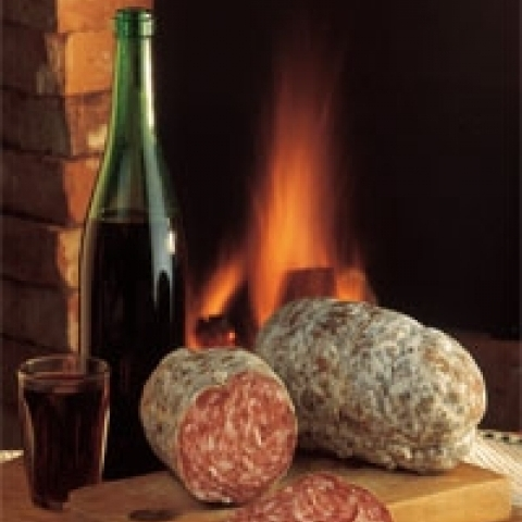 Wine and Salami fromTreviso Italy