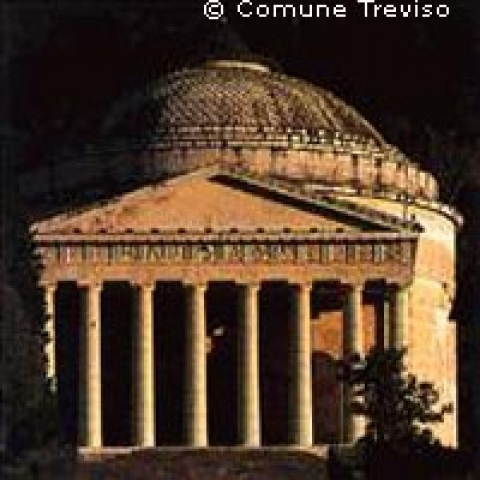 The temple of Canova in Possagno near Treviso Italy