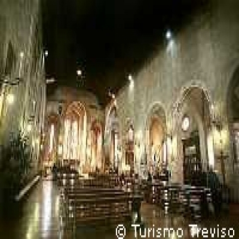 The interior of Saint Francis church in Treviso Italy
