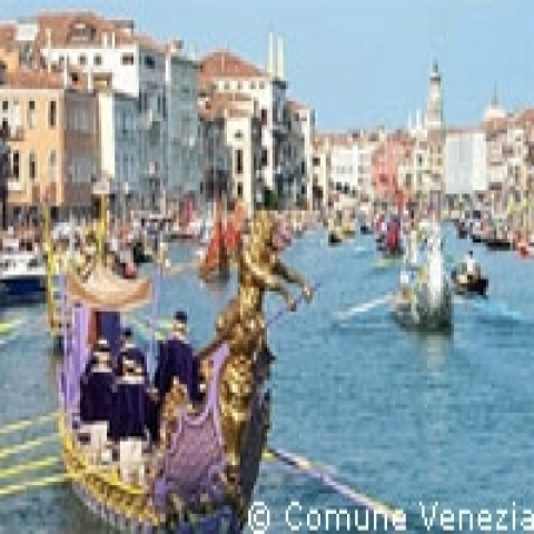 Historic regatta in Venice Italy