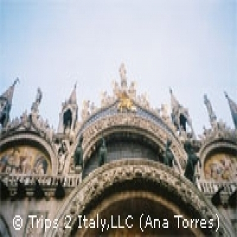 Detail of Saint Mark s Basilica Venice Italy