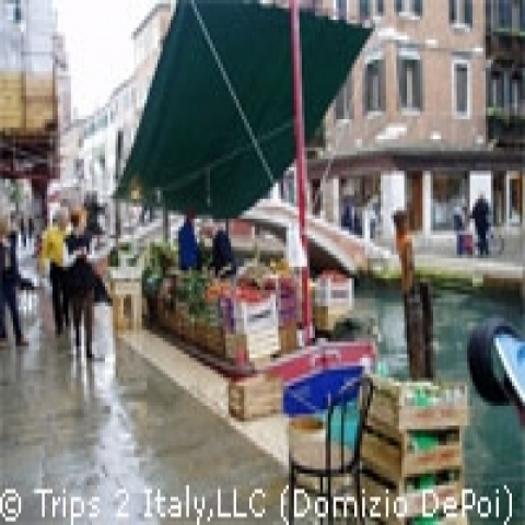 Small market in Venice historic main island Italy