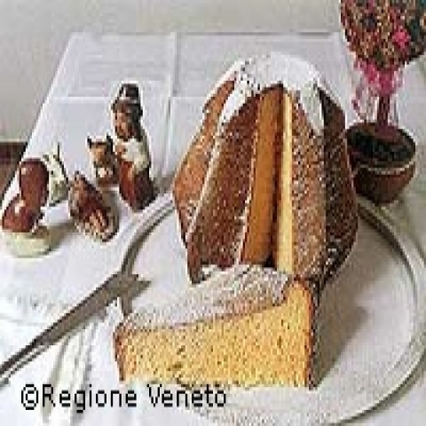 Pandoro the traditional Christmas cake from Verona Italy