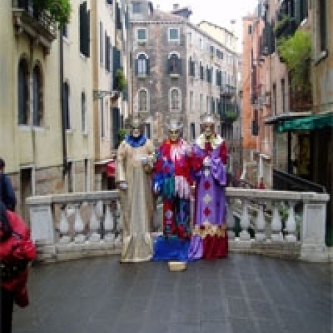 Maskers during the Carnival Venice Italy