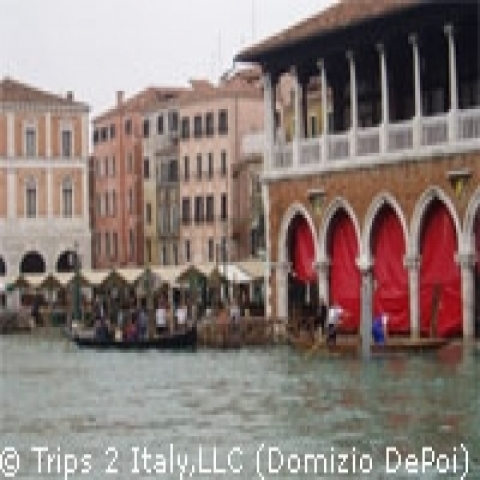 Historic buildings on the Gran Canal Venice Italy