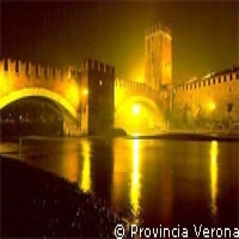 Scaligero Bridge Verona Italy