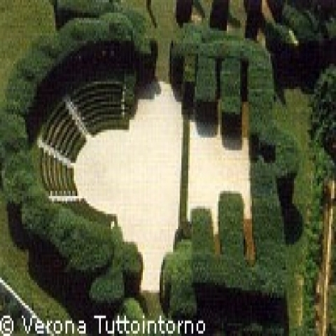Small arena in the Giusti gardens Verona Italy