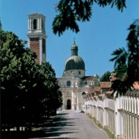 Monte Barico church in Vicenza Italy