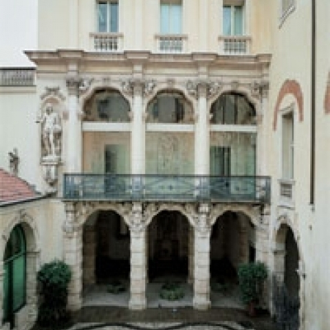 A classical palace in Vicenza Italy