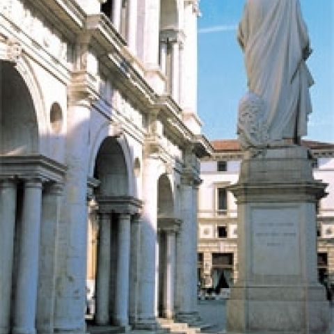 Statue of Andrea Palladio in Vicenza Italy